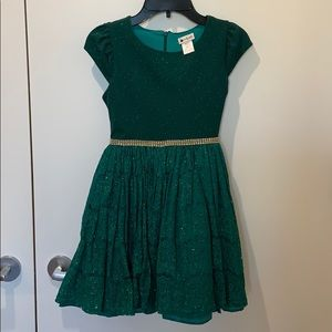 emily west emerald green dress